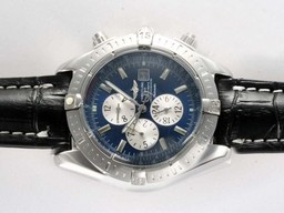 Fake Great Breitling Chronomat Evolution Chronograph Automatic with Blue Dial AAA Watches [U2C1]