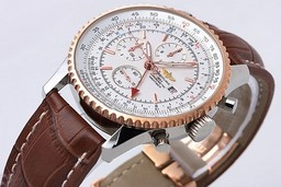 Fake Great Breitling Navitimer Automatic with White Dial and Brown Leather Strap AAA Watches [N8J3]