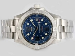 Falso Grande Breitling Super Ocean Blue Dial mesmo chassi 7750 Movimento AAA Relógios [ S3G7 ]