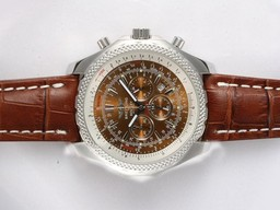 Breitling for Bentley moderne faux Motors Travail Chronographe Avec Cadran Brun AAA Montres [ S7F2 ]