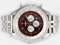 Breitling for Bentley moderne faux Motors Travail Chronographe Avec Cadran Brun AAA Montres [ O8H1 ]