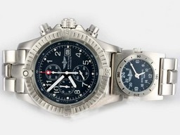 Fake Perfect Breitling Chrono Avenger/UTC Working Chronograph Blue Dial AAA Watches [W5M3]