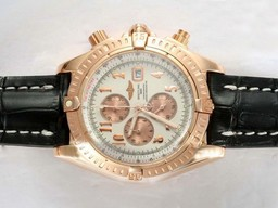 Breitling Chronomat Perfect Fake Evolution Chronographe Travail Boîtier En Or Rose AAA Montres [ A1G3 ]
