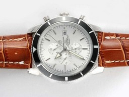Fake Popular Breitling Super Ocean Chronograph Automatic with White Dial AAA Watches [R9X1]
