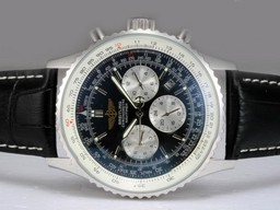 Fake Quintessential Breitling Navitimer Chronograph Automatic with Black Dial AAA Watches [F6S4]