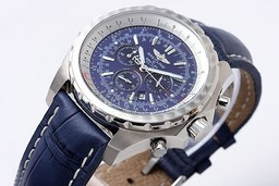 Fake Vintage Breitling For Bentley Chronograph Quartz Movement with Blue Dial AAA Watches [R8W6]
