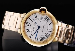 Fake Cool Cartier Ballon Bleu de Cartier Automatic with Golden Case AAA Watches [Q8W3]