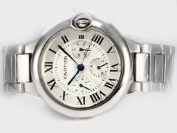 Fake Cool Cartier Ballon Bleu de Cartier Chronograph Automatic with White Dial AAA Watches [G9X2]