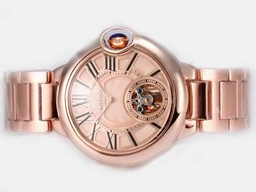 Fake Cool Cartier Ballon Bleu de Cartier Tourbillon Manual Winding AAA Watches [K9W1]