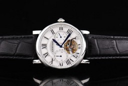 Fake Cool Cartier Ballon Bleu de Tourbillon Automatic Movement Silver Case AAA Watches [N2T7]