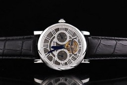 Fake Cool Cartier Ballon Bleu de Tourbillon Automatic Movement Silver Case AAA Watches [M9N9]