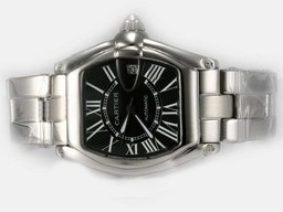 Falsa Cool Cartier Roadster Luminor Uathoibríoch le Black Dial U