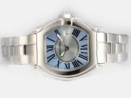 Fake Cool Cartier Roadster Blue Dial - ladys Malli AAA kellot [