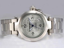 Falso Fancy Cartier Pasha Automtic con Silver Dial Orologi AAA [ L1P9 ]