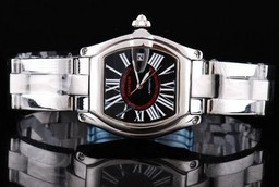 Fake Fancy Cartier Roadster Automatic with Black Dial and Roman numeral AAA Watches [C8M8]