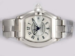 Fake Fancy Cartier Roadster Automatic with White Dial AAA Watches [U1G9]