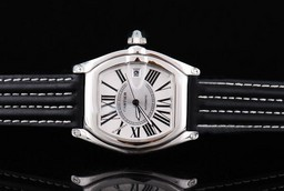 Fake Fancy Cartier Roadster automatic with Black Dial and Ssband Strap AAA Watches [I9M4]