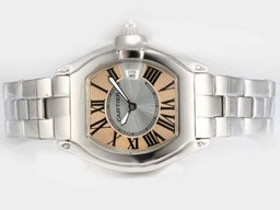 Fake Fancy Cartier Roadster with Champagne Dial-Ladys Model AAA Watches [I3T5]