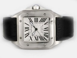 Fake Fancy Cartier Santos 100 With Movement AAA Watches [U2H6]