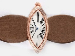 Fake Gorgeous Cartier Montre Calisson De Rose Gold Case Dial AAA Watches [X7W3]