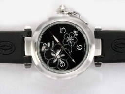 Fake Gorgeous Cartier Pasha Automatic with Black Dial- New Version AAA Watches [C7O9]