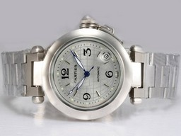 Fake Upea Cartier Pasha Automatic Silver Dial AAA Kellot [ H3V3