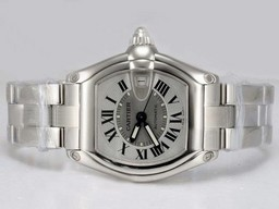 Fake Gorgeous Cartier Roadster with White Dial AAA Watches [X6N1]