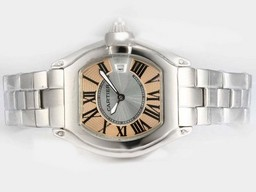 Fake Gorgeous Cartier Roadster with Champagne Dial-Ladys Model AAA Watches [U5W3]