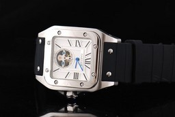 Fake Upea Cartier Santos 100 Tourbillon Automaattinen liike Hope
