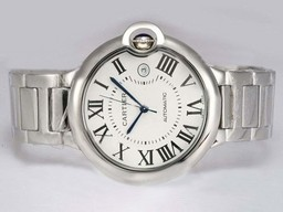 Fake Great Cartier Ballon Bleu de Cartier Automatic with White Dial-42mm AAA Watches [W8P6]