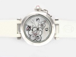 Fake Great Cartier Pasha Automatic with White Dial-New Version AAA Watches [I5N8]