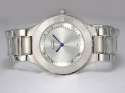 Fake Great Cartier Pasha Must De 21 with Silver Dial AAA Watches [I8F6]