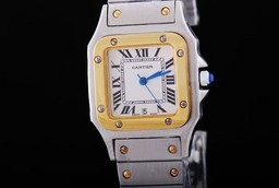 Fake Great Cartier Santos 100 quartz with White Dial-29MM AAA Watches [K8O7]