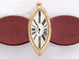 Fake Modern Cartier Montre Calisson De Gold Case Diamond AAA Watches [U4Q3]