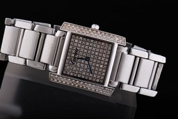 Fake Modern Cartier Montre Santos Demoiselle Quartz Movement with Diamond AAA Watches [E6N1]
