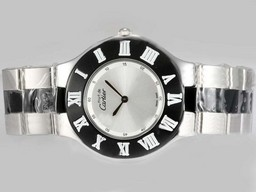 Fake Modern Cartier Pasha Must Be with Silver Dial Black Bezel AAA Watches [P5E8]