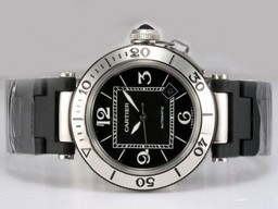 Fake Modern Cartier Pasha Seatimer with Black Dial AAA Watches [L7S6]