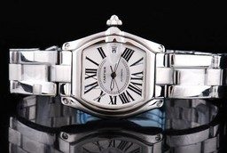 Fake Modern Cartier Roadster Automatic with White Dial and Roman Numeral AAA Watches [S9Q2]