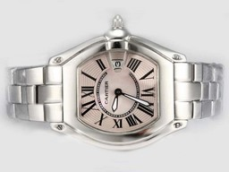 Fake Modern Cartier Roadster with Pink Dial-Ladys Model AAA Watches [W9B7]