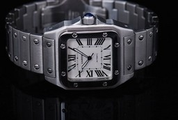 Fake Modern Cartier Santos 100 Automatic with White Dial-Medium Size 34MM AAA Watches [I7I8]