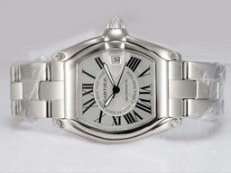 Fake Perfect Cartier Roadster con esfera blanca Relojes AAA [ C8H1 ]