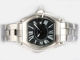 Fake Perfect Cartier Roadster Con Negro Dial - Ladys Modelo Relojes AAA [ P9R3 ]
