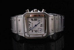 Fake Perfect Cartier Santos 100 Automatic Movement with White Dial AAA Watches [H1P1]