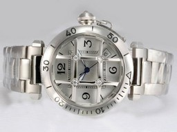 Fake Popular Cartier Pasha Automatic with Silver Dial AAA Watches [C1W1]
