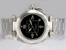 Fake Popular Cartier Pasha Automtic with Black Dial AAA Watches [O5O9]