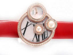 Fake Quintessential Cartier Classic Rose Gold Case Diamond Bezel with White Dial AAA Watches [L6Q8]
