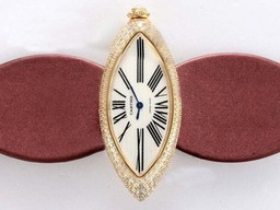 Fake Quintessential Cartier Montre Calisson De Gold Case Diamond AAA Watches [S4S1]