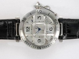 Fake Quintessential Cartier Pasha Automatic with Silver Dial AAA Watches [R2P9]