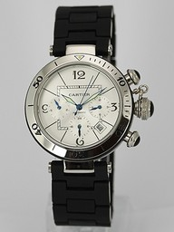 Fake Quintessential Cartier Pasha Seatimer Chronograph Automatic with White Dial AAA Watches [Q2D9]