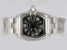 Fake Quintessential Cartier Roadster with Black Dial AAA Watches [B1M9]